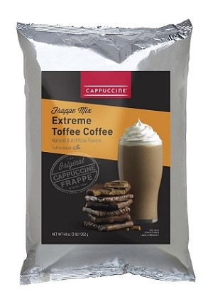 Cappuccine Extreme Toffee Coffee Frappe Mix 3 lb.